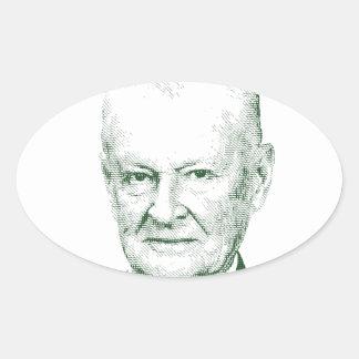 Zbigniew Brzezinski no deus que nós confiamos Adesivo Oval