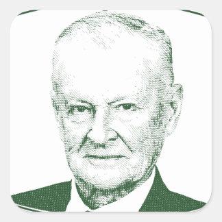 Zbigniew Brzezinski no deus que nós confiamos Adesivo Quadrado