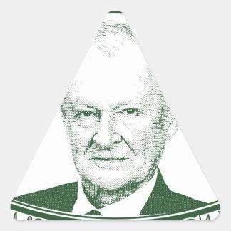 Zbigniew Brzezinski no deus que nós confiamos Adesivo Triangular
