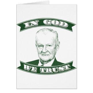 Zbigniew Brzezinski no deus que nós confiamos Cartão