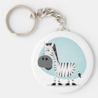 Zebra bonito dos desenhos animados chaveiro