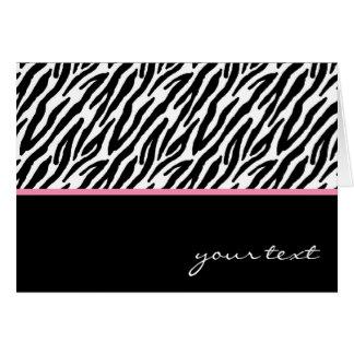 Zebra Cartão Comemorativo