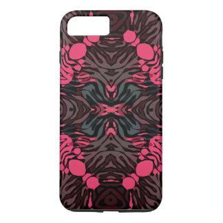 Zebra cinzenta cor-de-rosa fluorescente capa iPhone 7 plus