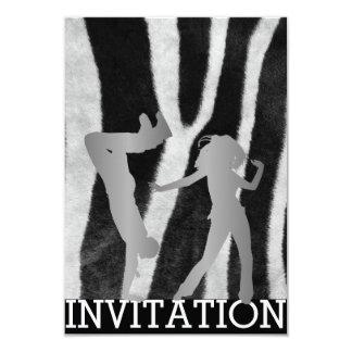 Zebra clássica de Dico Hip Hop Vip da dança de Convite 8.89 X 12.7cm