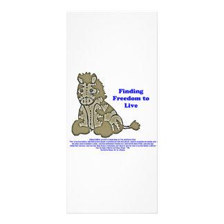Zebra com slogan 10.16 x 22.86cm panfleto