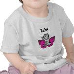 Zebra de 1 ano do primeiro aniversário e borboleta camiseta