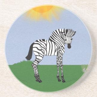 Zebra do bebê na arte dos desenhos animados do cam porta copos para bebidas