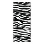 zebra do em do padrão convite 10.16 x 23.49cm
