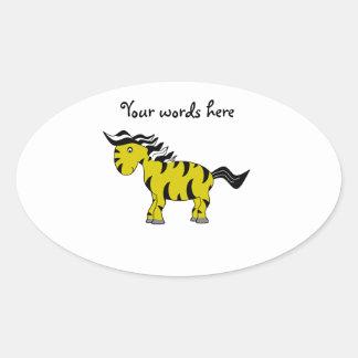 Zebra do ouro adesivos em formato ovais