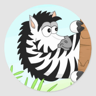 Zebra escondendo adesivo