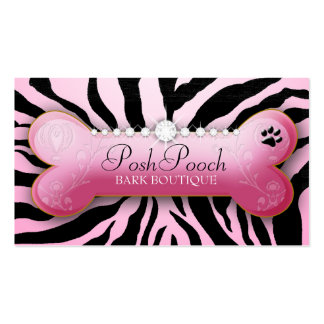 Zebra fino do rosa do cão 311 cartao de visita