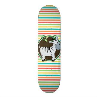 Zebra; Listras brilhantes do arco-íris Skate