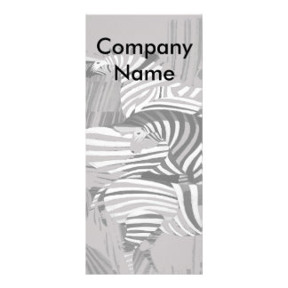 Zebra no menu cinzento 10.16 x 22.86cm panfleto