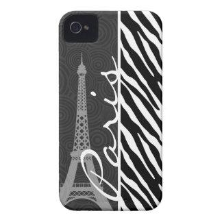 Zebra preta & branca; Paris Capinha iPhone 4
