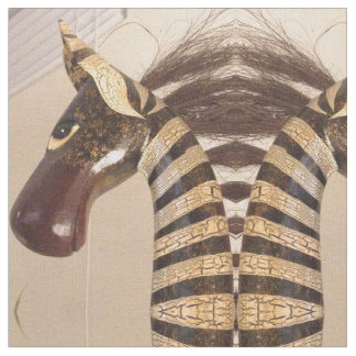 Zebra projetada tecido