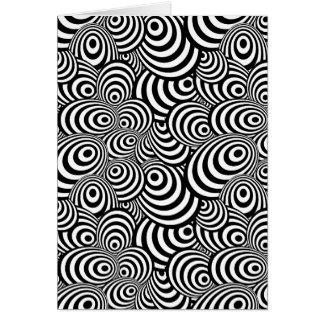 Zebra psicadélico cartão
