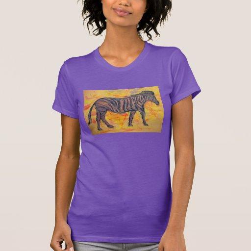 zebra roxa camisetas