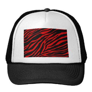 zebra vermelha boné
