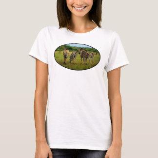 Zebras africanas em um ajuste natural camiseta