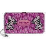 Zebras & auto-falante cor-de-rosa personalizados d caixinhas de som para mp3