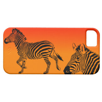 Zebras do por do sol mim capa de telefone