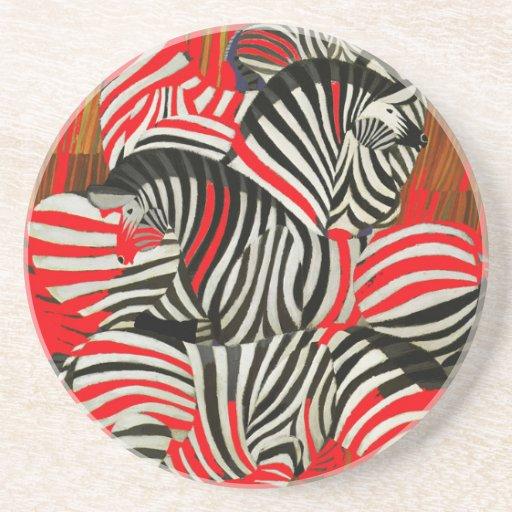Zebras vermelhas porta copo