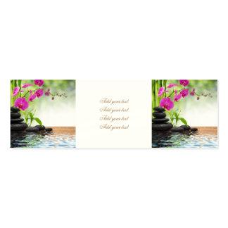 zen, paz, orquídea cor-de-rosa, bonita, termas, cartão de visita skinny
