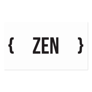 Zen - seu escolha a cor do fundo cartão de visita