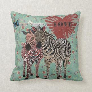 Zenya & Zeb Love Turqoise Floral  Mojo Pillow