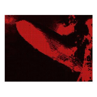 Zepelim do diodo luminescente cartão postal
