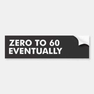 Zero a 60 eventualmente adesivo para carro