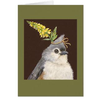 Zetta o cartão do titmouse
