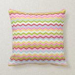 Ziguezague colorido da viga travesseiro de decoração