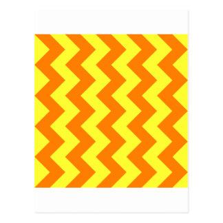 Ziguezague eu - Amarelo elétrico e laranja Cartao Postal