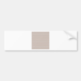 Ziguezague largamente - branco e castor adesivo