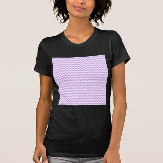 Ziguezague largamente - branco e malva t-shirt