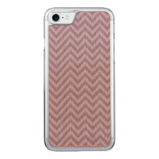 Ziguezague roxo de Ikat Chevron do Lilac do Capa iPhone 7 Carved