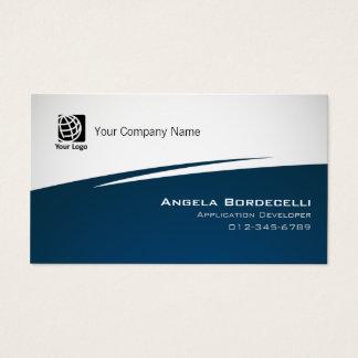 Ziguezague simples do cartão de visita do