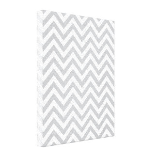 Ziguezagues cinzentos & brancos impressão de canvas esticadas