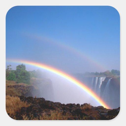 Zimbabwe, parque nacional de Cataratas Vitória. Adesivo Quadrado