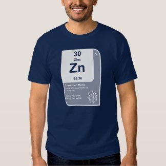 Zinco (Zn) Camisetas