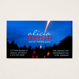 Zing da foto cartão de visitas