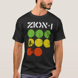 Zion eu paro luzes camiseta