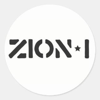 Zion-i simples adesivos redondos