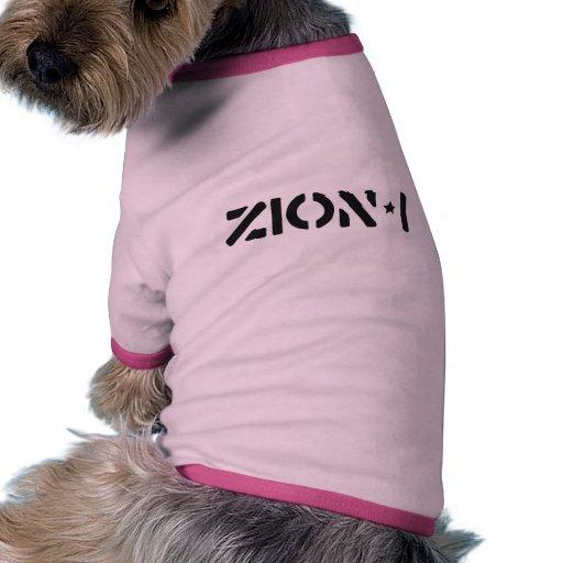 Zion-i simples camisa ringer para cachorro