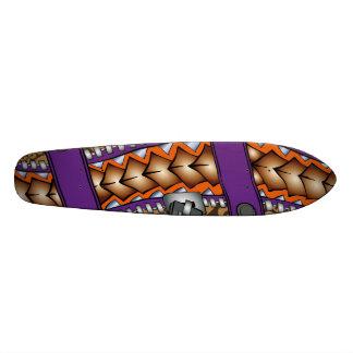 Zipper: Gráfico polinésio do tatuagem Shape De Skate 21,6cm