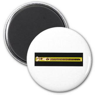 Zipper o cobre amarelo preto BH O MUSEU Zazzle Imãs