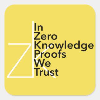 zk nós confiamos a etiqueta
