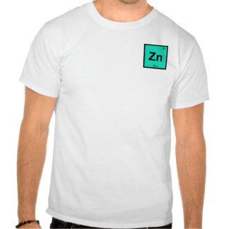 Zn - elemento do símbolo da mesa periódica da camisetas