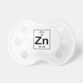 Zn - zinco chupeta de bebê
